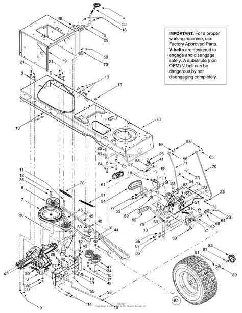 troy bilt belt diagram troy bilt 13at609h063 ltx2146 2003 parts diagram for