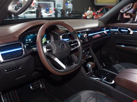 volkswagen atlas black interior volkswagen atlas tanoak shows cool design details