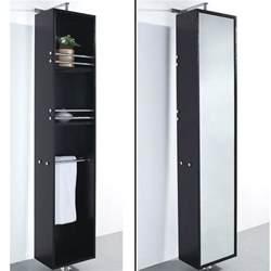 barcelona rotating storage cabinet espresso free