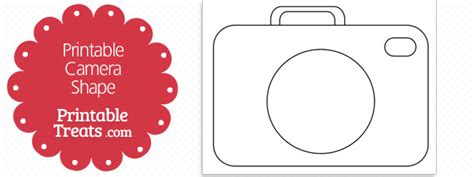 printable camera shape template printable treats com