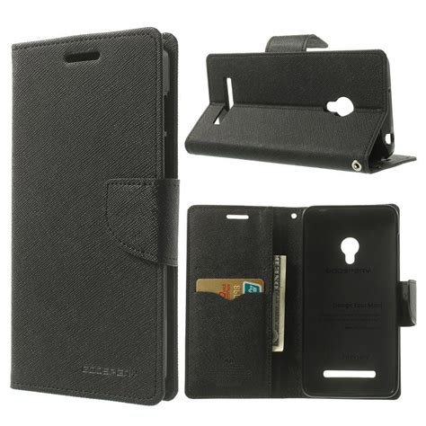 Wallet Zenfone 5 by Asus Zenfone 5 Black Fancy Wallet