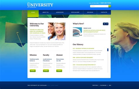 website templates for online examination university website template 40500