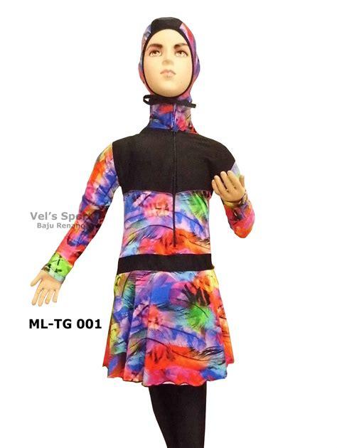 Baju Renang Anak Muslim Muslimah Ukuran 10 Dan 11 Tahun Sulbi Sbap 171 baju renang anak perempuan muslimah ml tg 001