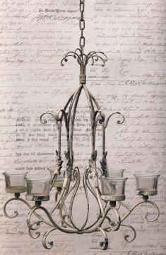 kronleuchter teelichter teelichthalter h 228 ngend kronleuchter antik shabby landhaus