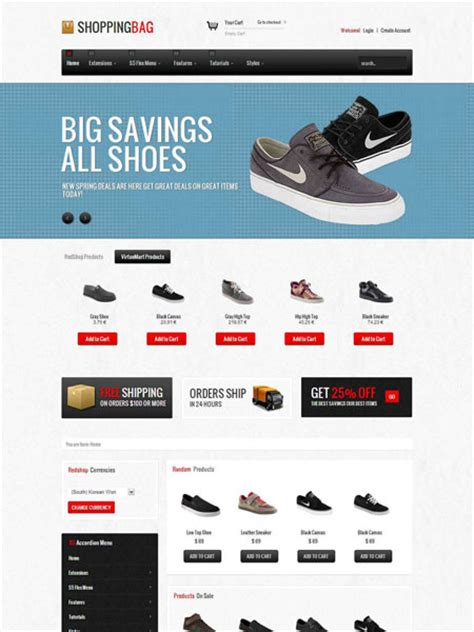 ecomerce template shopping bag joomla template joomla responsive ecommerce