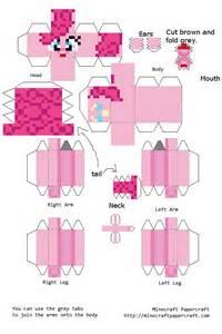 pinkie pie papercraft minecraft by frownieman on deviantart