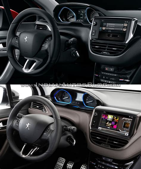 peugeot jeep interior peugeot 2008 interior old vs new indian autos blog