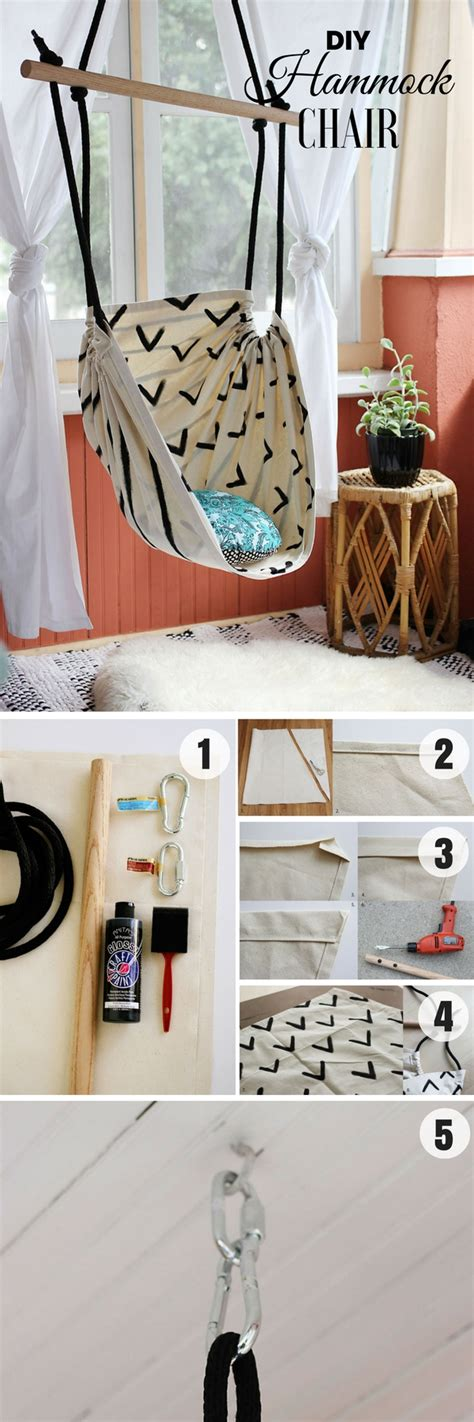 How To Make Decorations For Your Room Out Of Paper - diy hammock chair