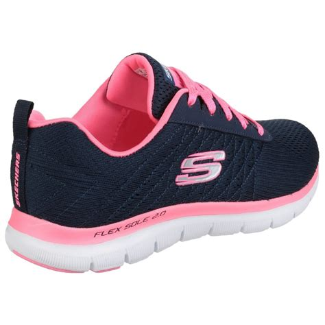 Skechers Flex Appeal skechers flex appeal 2 0 free s navy pink