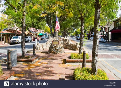 downtown hill ca of downtown hill california stock