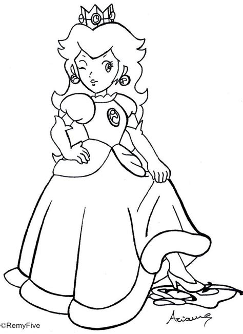 coloring pages of daisy from mario mario luigi peach daisy bowser toad picture coloring page