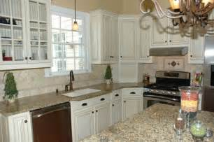 Glazed White Kitchen Cabinets Glazed White Kitchen Images