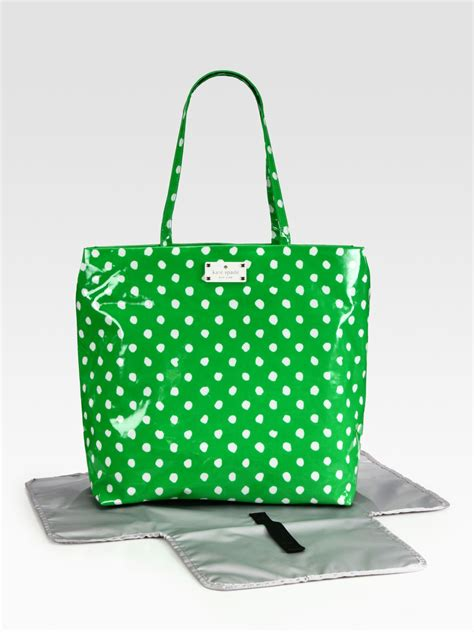 Katespade Bag Polkadot by Kate Spade New York Polka Dot Baby Bag In Green Lyst