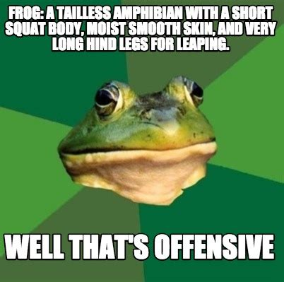 Meme Generator Frog - meme creator frog a tailless hibian with a short