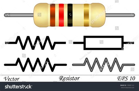 what a resistor does resistor stock vector 135091121