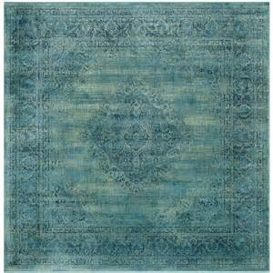 8 Foot Square Area Rug Safavieh Vintage Turquoise Multi 8 Ft X 8 Ft Square Area Rug Vtg112 2220 8sq The Home Depot
