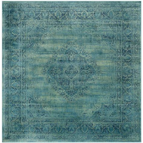 8 X 8 Area Rugs by Safavieh Vintage Turquoise Multi 8 Ft X 8 Ft Square Area Rug Vtg112 2220 8sq The Home Depot