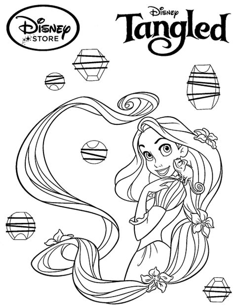 Coloring Page Princess Tangled by Disney Princess Coloring Pages Rapunzel Tangled Princess