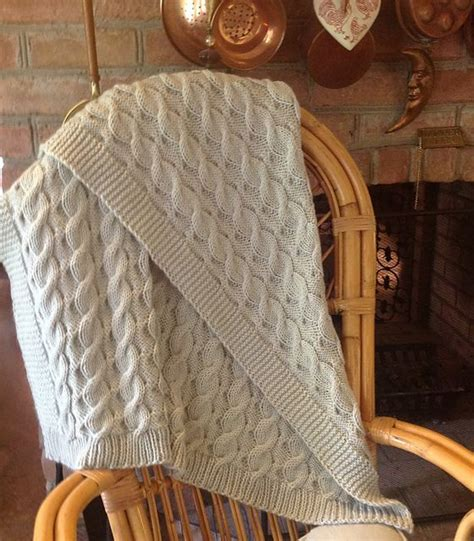 Free Knitted Blankets And Throws Patterns by Cable Knit Throw Pattern Crochet And Knit