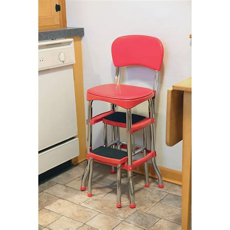 Cosco Chair Step Stool Black by Step Stool W Chair Portable Ladder Retro Chair Step Stool