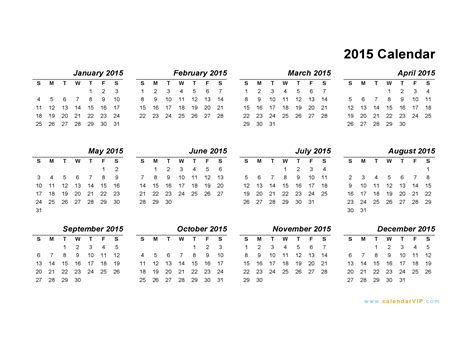 template 1 yearly calendar 2016 as word template landscape