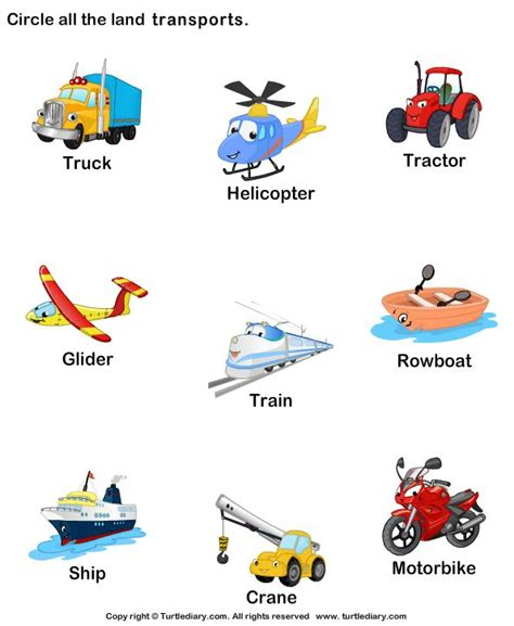 Maze Magnet Binatang land transport worksheet14 planes trains and automobiles preschool theme