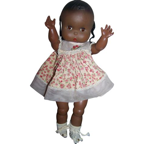 black doll 1960 jolly toys inc 1960 marked vintage black doll from