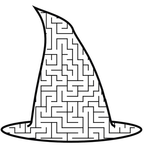 Free Printable Witch Coloring Pages For Kids Witch Hat Coloring Page