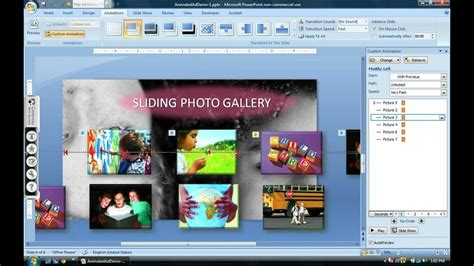 html tutorial with exles ppt sliding photo gallery tutorial powerpoint 2007 youtube