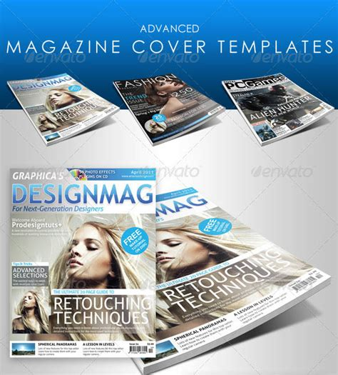 25 photoshop indesign magazine cover templates psd