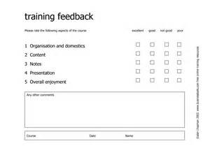 training course feedback form template