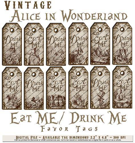items similar to alice in wonderland vintage eat me drink