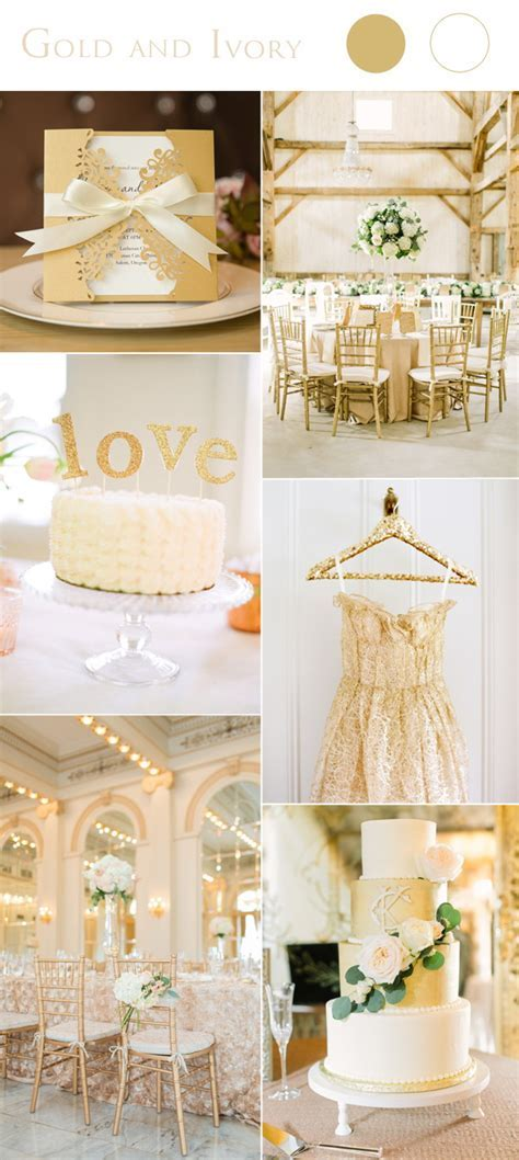 2017 Wedding Color Scheme Trends: Gold and Ivory ? Stylish