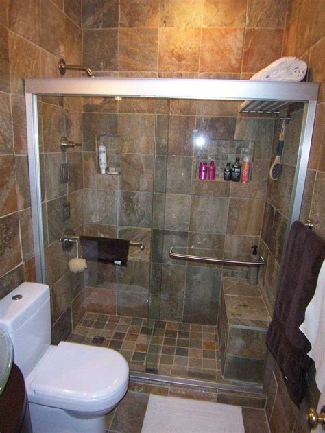 Shower And Bathroom Small Bathrooms With Shower Toilet And Sink Shelves Wall Fittings Towel Racks Glass Wooden