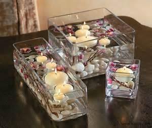 Glass Vase Pebbles Galleria Centrotavola Con Candele Tante Idee Da
