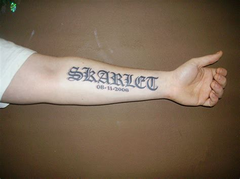 tattoo designs for men on hand names arm name ideas