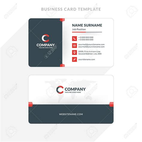 sided business card template open office printing sided business cards illustrator gallery