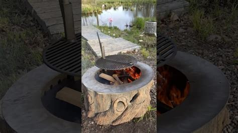wonderful tree stump fire pit with stainless steel liner