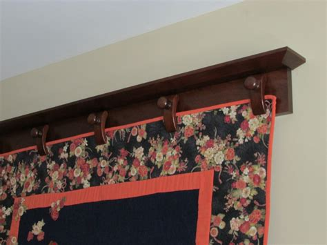 Quilt Hanger For Wall by Richard T Hyers Woodworking Wall Mounted Quilt Hanger