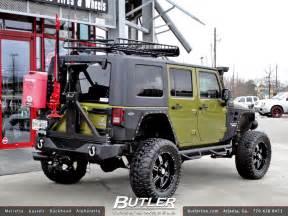 3 0l turbo diesel jeep wrangler with 20in black rhino