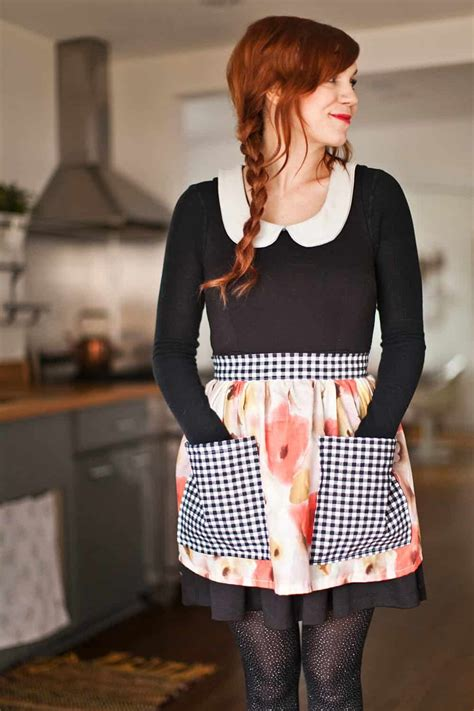 Half Apron sew your own half apron a beautiful mess