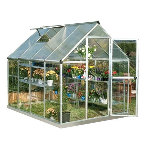 Green House Kits by Palram 6x8 Hybrid Greenhouse Kit Silver Hg5508