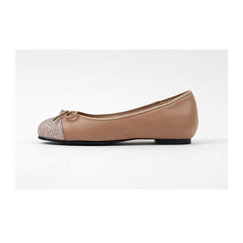 Flat Shoes Ribon Balck s synthetic leather glitter toe ribbon flat shoes