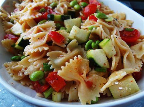 pasta salad bow tie pasta salad bowl me over