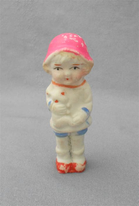 1930s bisque doll vintage 1930s bisque doll figurine holding rabbit