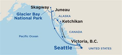 seattle map directions roundtrip alaska cruise from seattle princess cruises