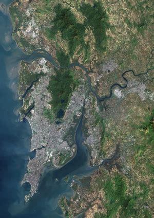 mumbai map satellite agglomeration mumbai and india on