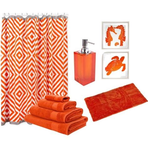 8 Great Orange Accessories by 25 Best Orange Bathrooms Trending Ideas On