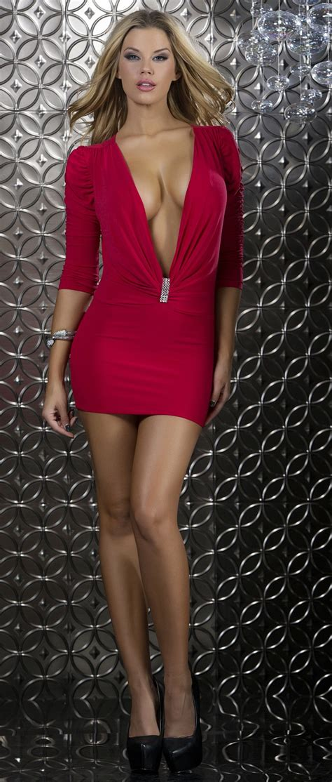 Dress Import Jessa Collections 3 Embellished Rhinestone Plunge Dress Forplay Blvd