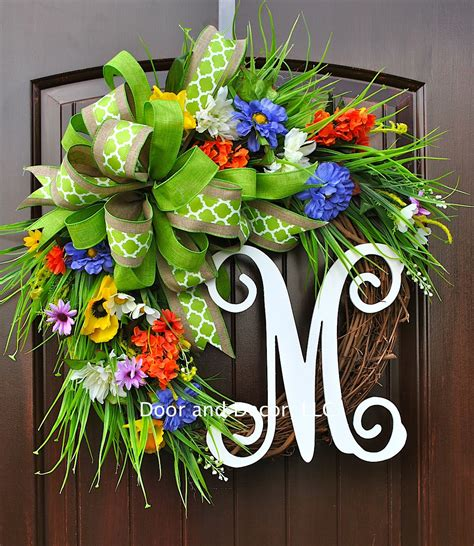 Handmade Door Wreaths - 18 whimsy handmade summer wreath designs for a welcome